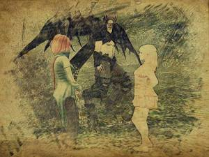 """Just like that night with the scary demon angel lady and Padishar, Aoibh started screaming, """"Gwyn is MINE!"""" over and over again."""