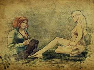 I tried to talk to Aoibh, find out what was going on in her head. In retrospect, maybe I should have just taken her to Val's den and stayed with her until Val showed up.