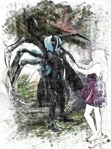The bug queen brought Paasheeluu's body to us.