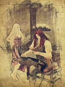 I spent the night awake in the tavern with Nathaniel.