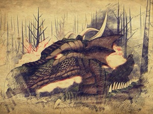 Evil dragons scourged the forests and towns of Aoibheann's homeland.