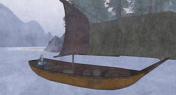I dreamed of a boat on a mist-covered sea.
