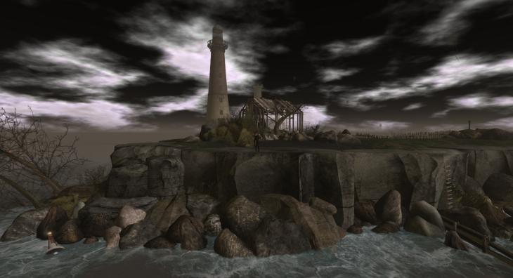 House, Lighthouse, Island