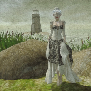 I wanted the wedding arch, but Kern placed me in front of the lighthouse for most of these.
