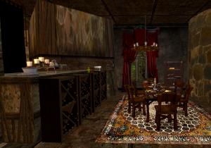 MystHaven's sumptuous dining room.