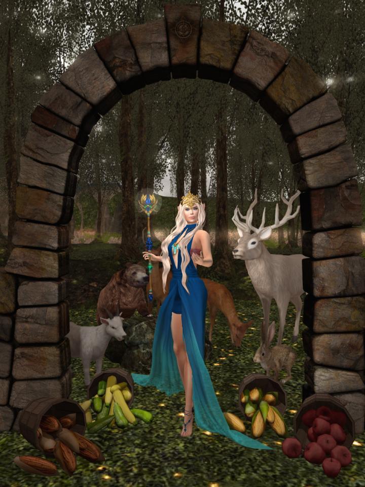 Empress in the garden.