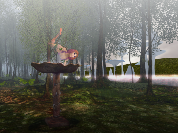 Here's Callista, working on cleaning a nectar pool for the demifae.