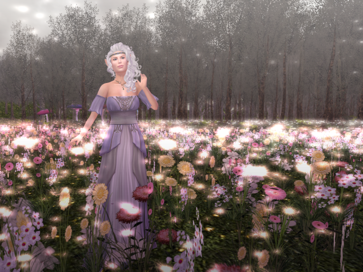 Another lilac picture, in our magical flower field.