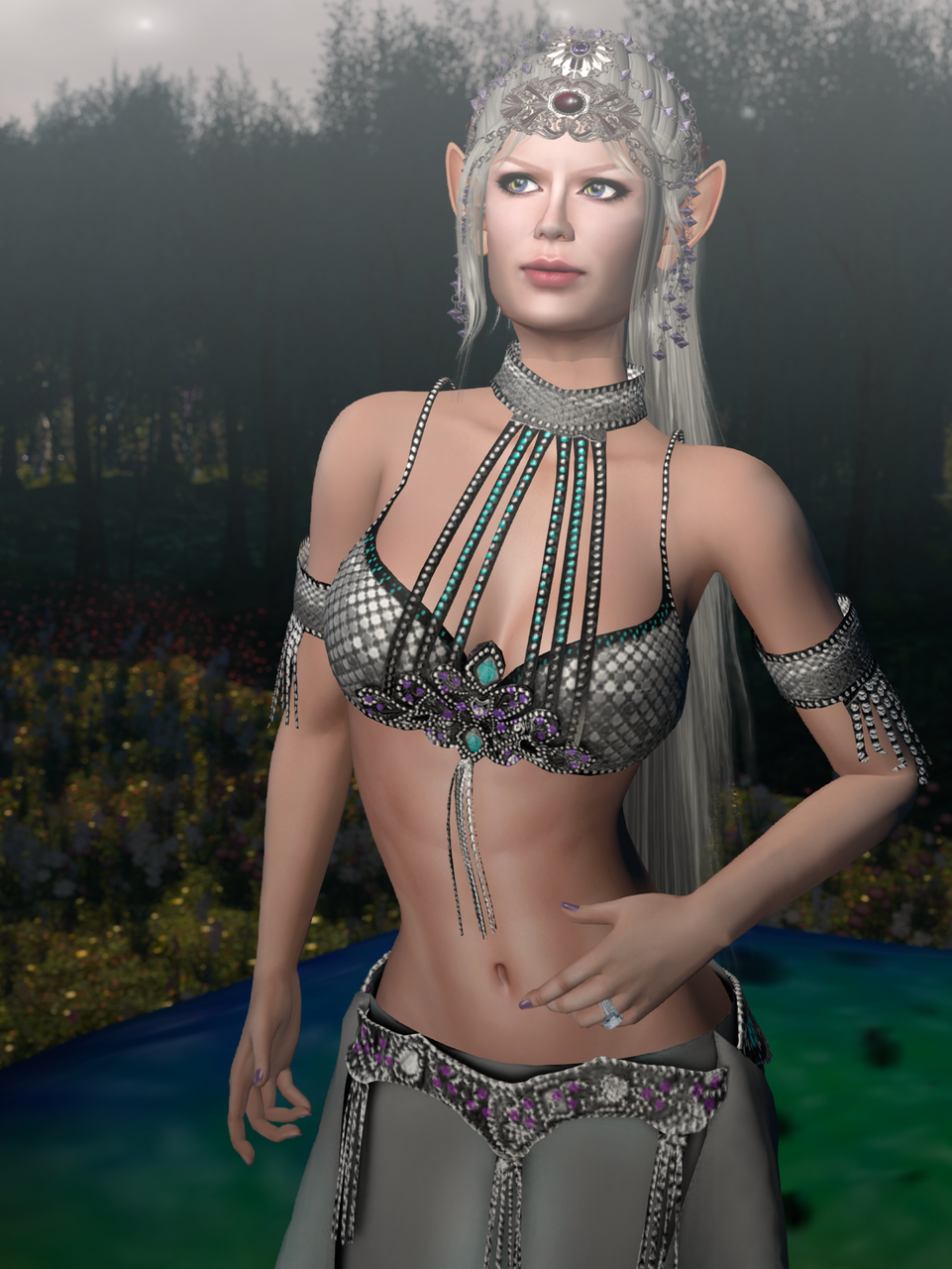 I love the detailing on the bodice, or bra, or whatever you want to call the top bit.