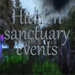 Hidden sanctuary events sign