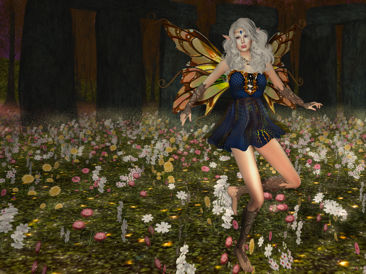 Ah, Gwyneth, such a faerie fae in this dress from Moon Amore!