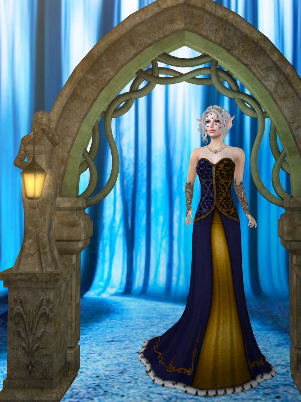 Here's Gwyneth in the Shadow Temptress gown from The White Armory.